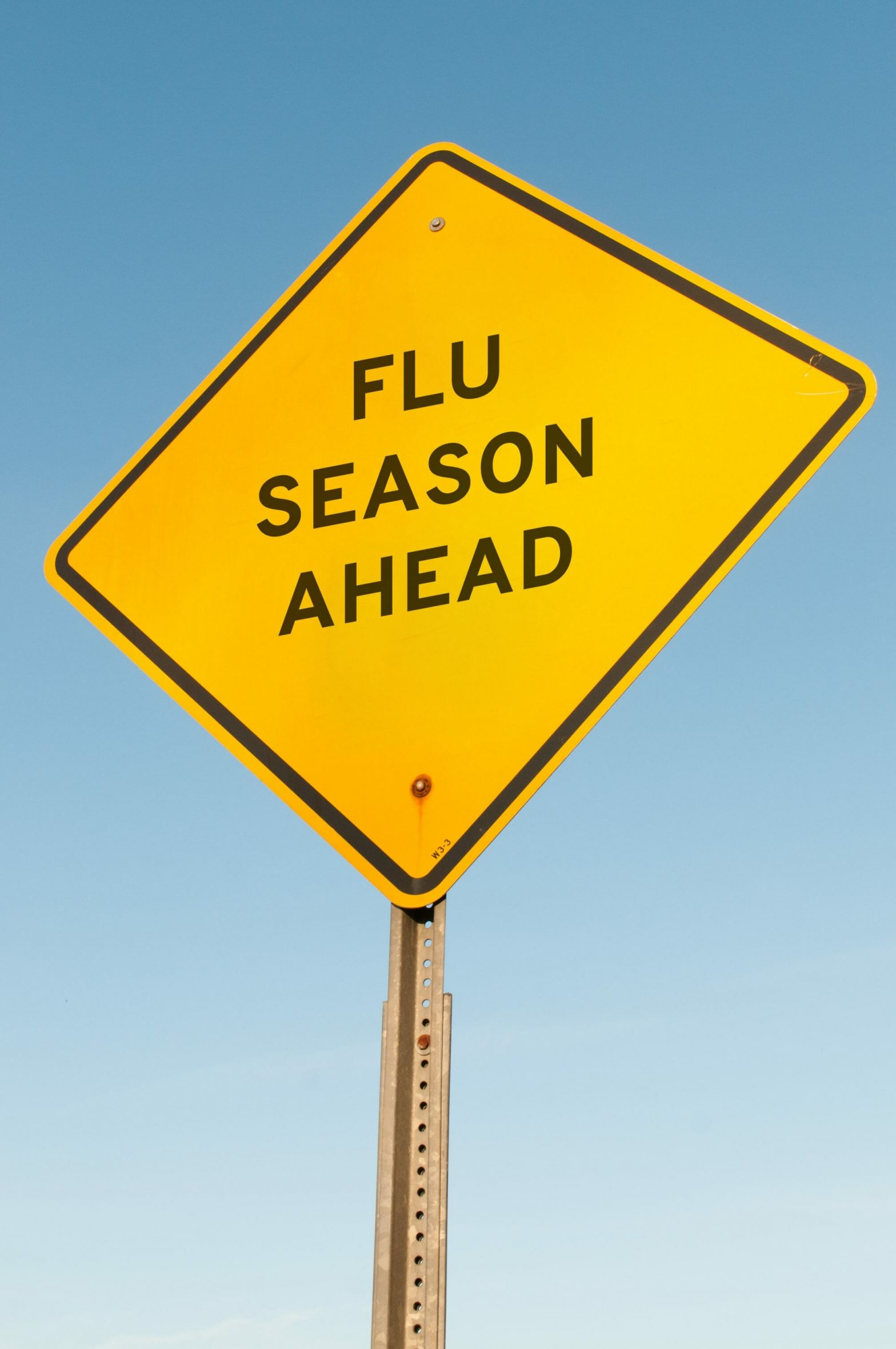 Flue Season Ahead sign