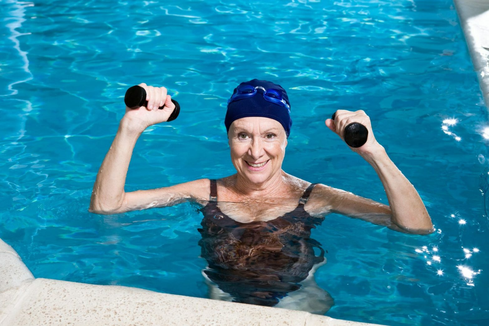 Older Woman Water Aerobics
