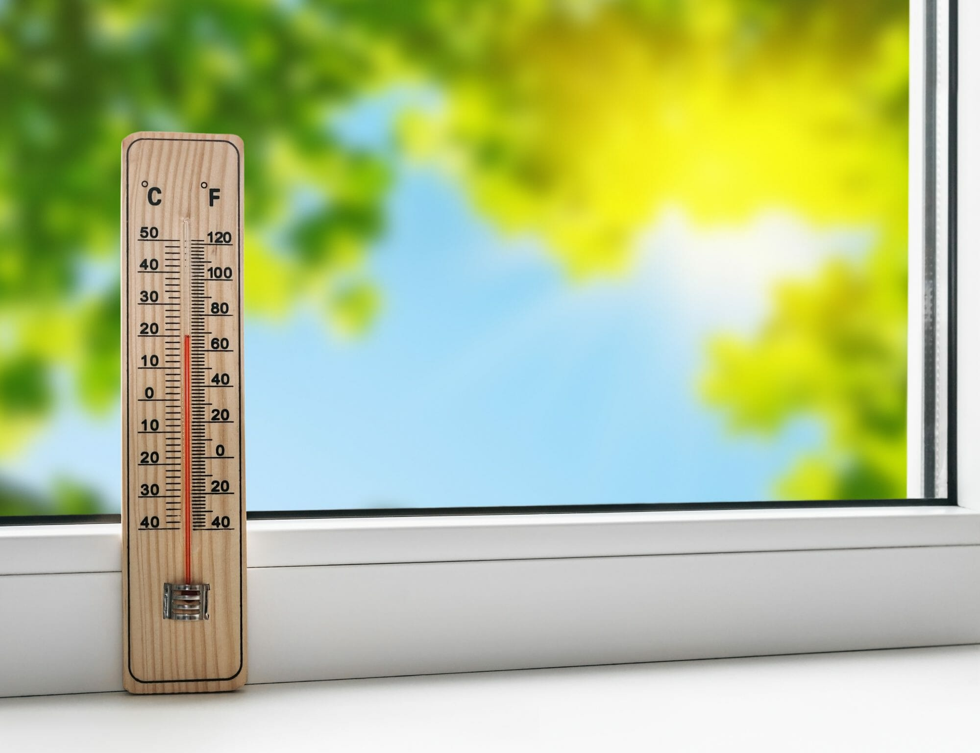 thermometer on the windowsill