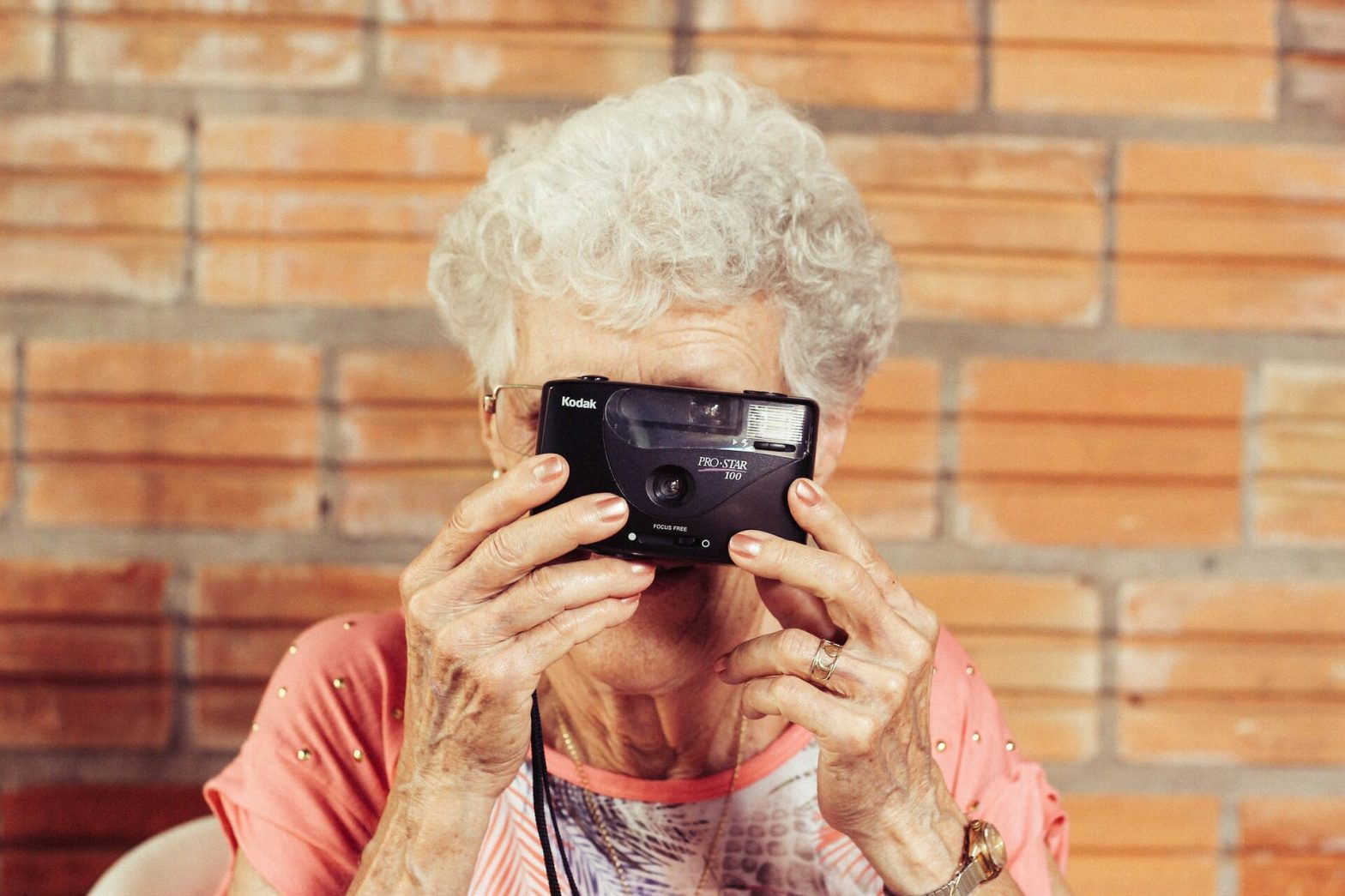 Grandmother With Camera